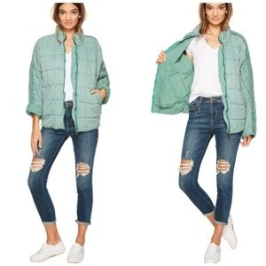NEW Free People Quilted Slouchy Dolman Jacket